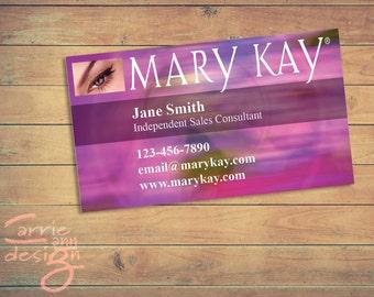Mary kay business cards etsy mary kay business cards printable pink custom make up colourmoves