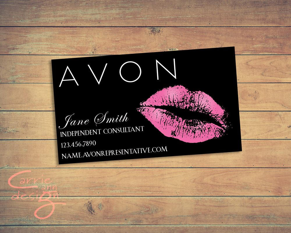 Avon business card printable download lips kiss etsy zoom colourmoves