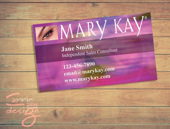 Mary Kay Business Cards Printable Pink Custom Make Up Etsy