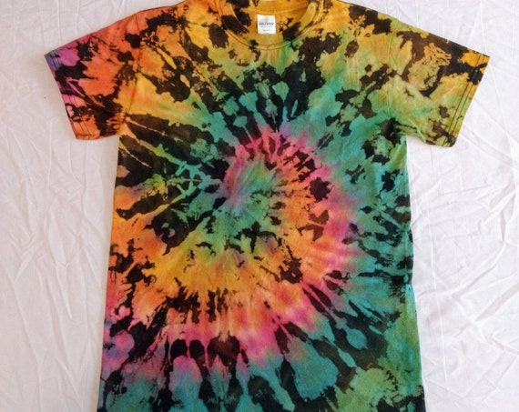 Reverse Tie Dyed Black Galaxy Adult Small T-shirt