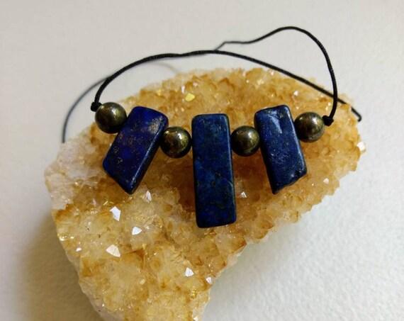 Lapis Lazuli & Pyrite Necklace