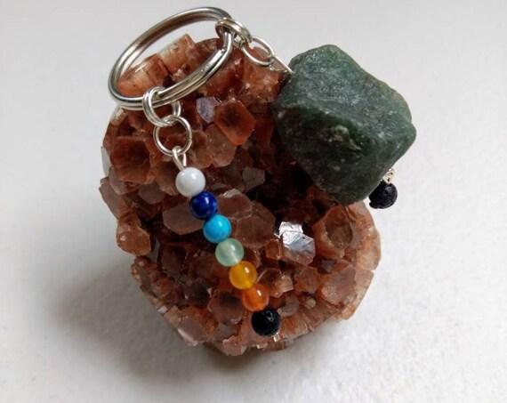 Aventurine Rainbow Chakra Balancing Key Chain