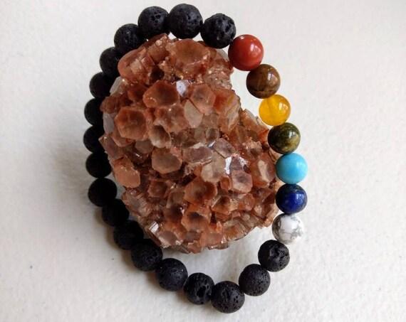 Rainbow Chakra Balancing Stretch Bracelet