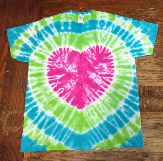Heart Tie Dye Adult XL T-Shirt