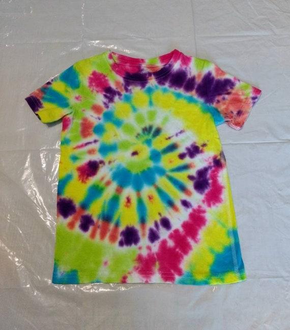 Spiral Tie Dyed Childrens 4T-5T Tshirt
