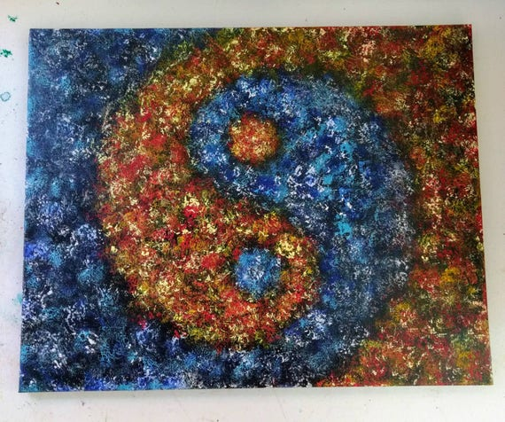 "Original ""Yin Yang Galaxy"" Acrylic Painting"