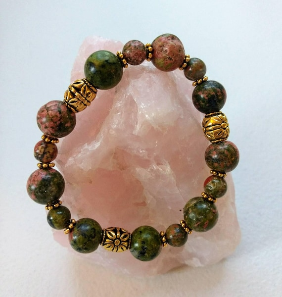 Unakite Stretch Bracelet