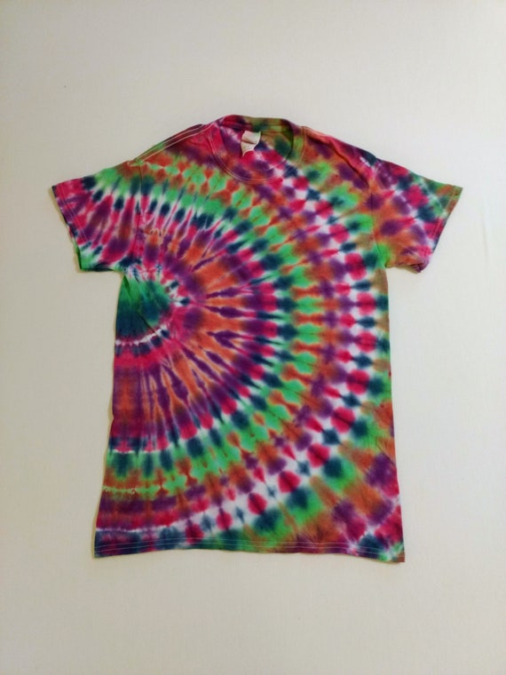 Tie Dyed Side Circle Adult Small T-Shirt