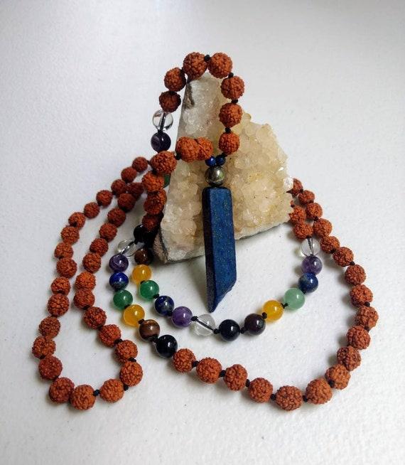 Rainbow Chakra Balancing Mala/Prayer Beads