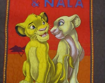 Pre Quilted,Double faced, Simba & Nala