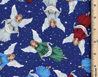 Christmas Angels, Silent Night,Blank Textile
