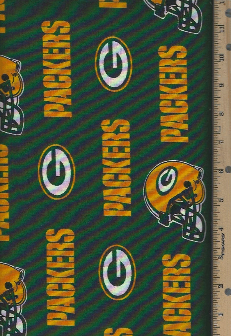 Stoffe Green Bay Packers Nfl 60 Cotton Fabric Half Yard Fabric Traditions G Bastel Kunstlerbedarf