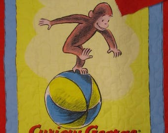 Pre Quilted ,Double faced, Curious George