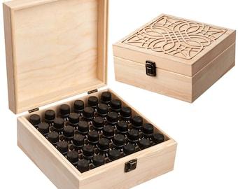 Beautifully Designed Essential Oil Storage Box 36 Bottle - Holds 5-15ml  10ml Roller Bottles - Free Roller Bottle Opener & 192 EO Labels