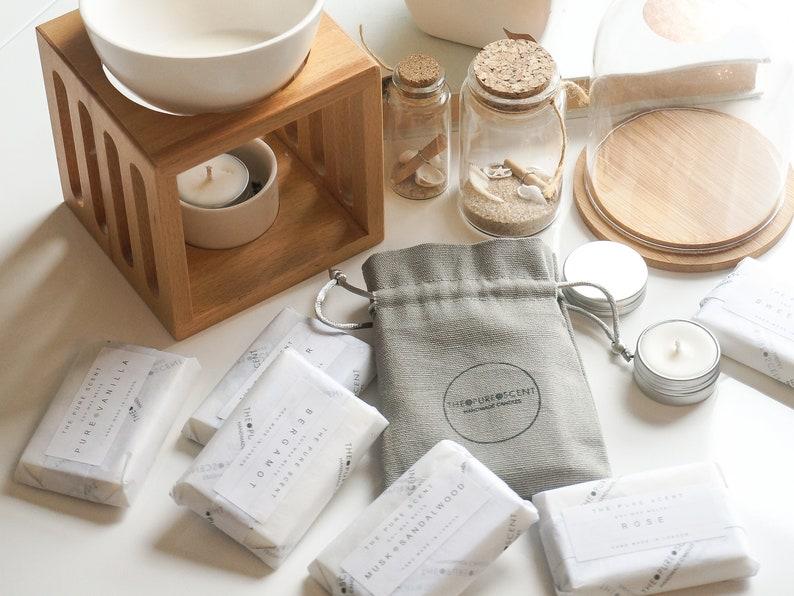 Soy Wax Melts Gift Set 2 x 25g snap bars w/ soy tealight image 0