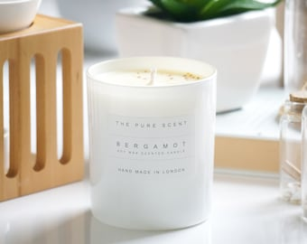 Aromatherapy Bergamot Soy Candle, handmade in London, homemade candle, natural candle, scented candle, soy wax candle, homemade gift