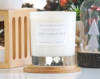 Pure Christmas Soy Candle in a Glass, handmade in London, homemade candle, Christmas candle, scented candle, Christmas gifts, homemade gift