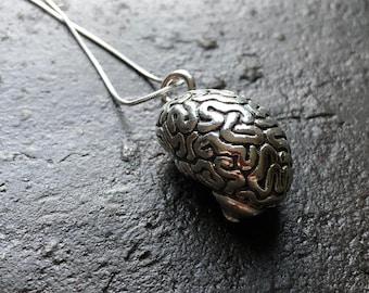 3D Brain Necklace // Pendant // Neuroscience Necklace // Biology // Anatomy // Psychology