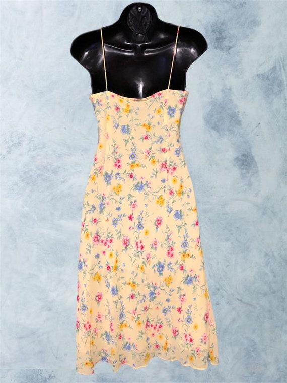 Vintage 90s Ralph, Ralph Lauren Yellow Floral Sli… - image 7