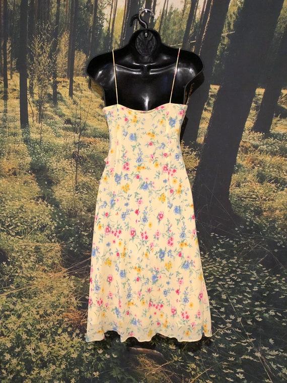 Vintage 90s Ralph, Ralph Lauren Yellow Floral Sli… - image 6