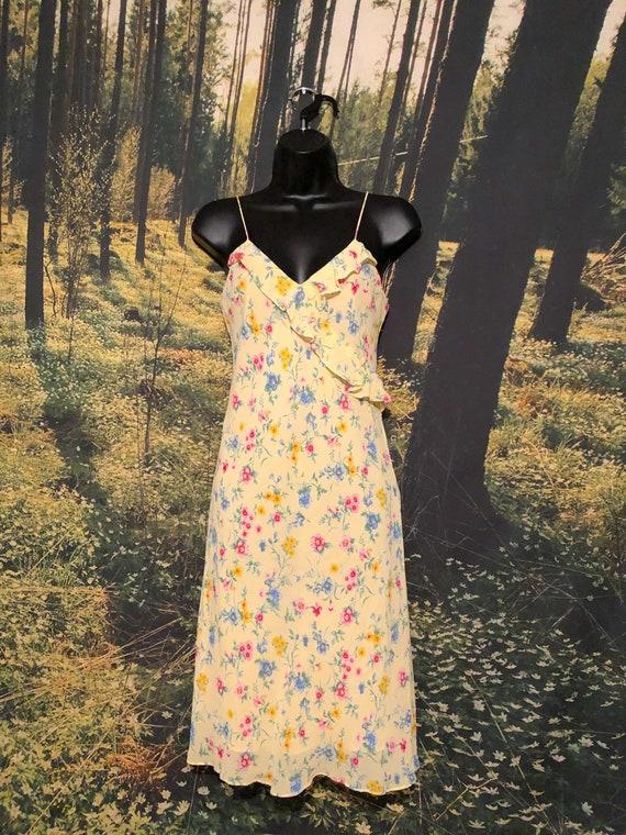 Vintage 90s Ralph, Ralph Lauren Yellow Floral Sli… - image 3