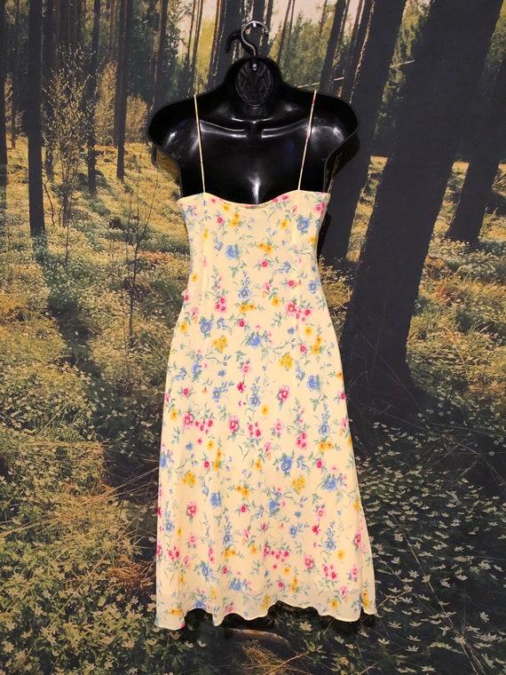 Vintage 90s Ralph, Ralph Lauren Yellow Floral Sli… - image 9