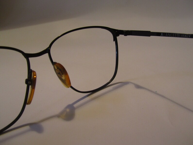 Vintage eyeglasses frame Lancetti mod L 021 54 18 new new made in Italy 90 years