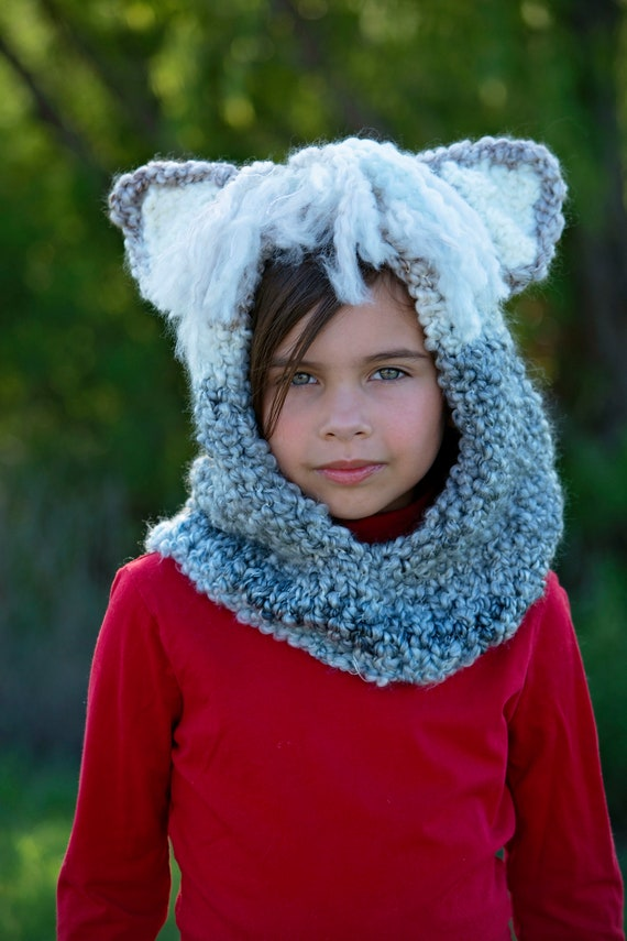 Hand Knit Llama Hood for Kids to Adults, Soft and Warm Easy Care Acrylic Hood for Llama Lovers, Warm Winter Hoods