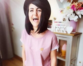"MEKO® ""Pamy"" Shirt Women's Old Pink Anchor Tee"