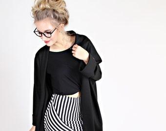 "MEKO® ""Sowhoo"" Short Coat Women's Black Cardigan Coat Kimono"