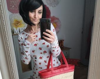"MEKO® ""Confettiy"" Mini Dress Women's White Roses Dots Long Sleeve Short Dress Party Dress Case Dress"