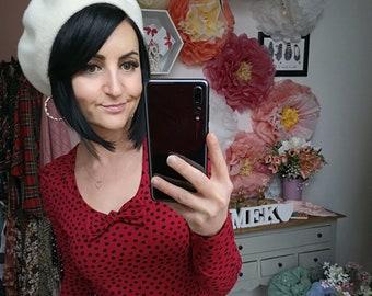 "MEKO® ""Schleifalla"" Longsleeve Women's Red Dots Shirt Top Long Sleeved"