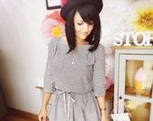 MEKO quot Mypsy quot Jersey Dress Women 39 s Stripes Vintage Black Boho Rockabilly Mini Dress Festival Look