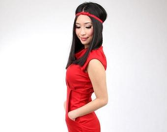 "MEKO® ""Sunny"" dress red ladies short sleeve dress"