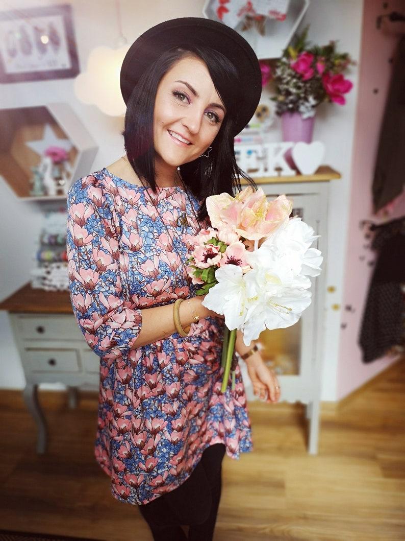 MEKO® Gypsy Kleid Damen Hellblau Lachs Magnolie | Etsy