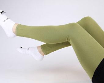 """Gr. S MEKO® """"Üni"""" Leggings Women Light Green Apple"""