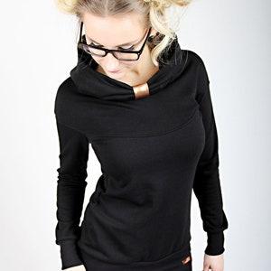 MEKO D\u00f6hly hoodie brown ladies lace short sleeve Chocolate