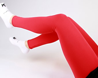 "MEKO® ""Üni"" Leggings Red Ladies Monochrome"