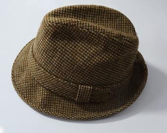 62a391ef1f7 Dobbs 5th Avenue Brown Tweed Wool Trilby Hat