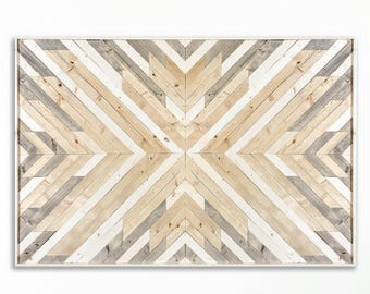 Superb Wood Wall Art ~ Large Wall Art ~ Wooden Wall Art ~ Wooden Wall Art Large ~  Geometric Wood Wall Art ~ White Wood Wall Art ~ Modern Wall Art