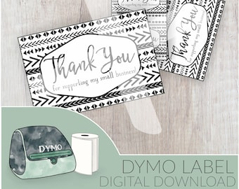 Digital Label Download, DYMO Label, Printable Labels, Thank You Sticker Download, Small Business Thank You Stickers