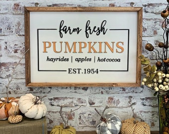 Farm Fresh Pumpkins Sign Laser Cut File for Glowforge Epilog Projects Laser Cutting Download