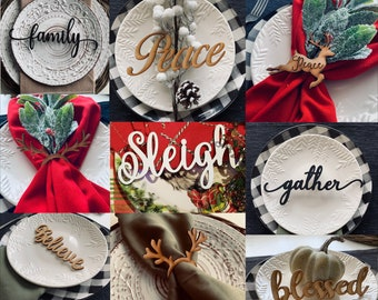 Table Setting Place Setting Napkin Ring Bundle Laser Cut File for Glowforge Epilog Projects Laser Cutting Download