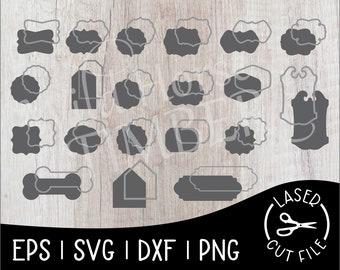 Framed Sign Shapes Laser Cut File for Glowforge Epilog Projects Laser Cutting Download