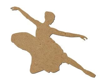 160360 Hip Hop Dancer Unfinished Wood Wood Cutout