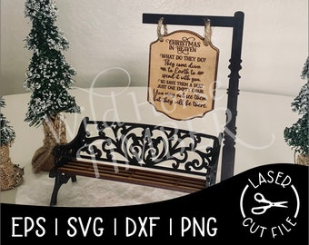 Christmas in Heaven Dimensional Set Laser SVG Cut File for Glowforge Epilog Projects Laser Cutting Download