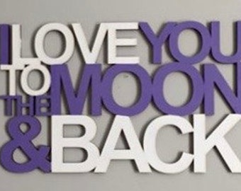MOON AND BACK - Unfinished Wood Sign
