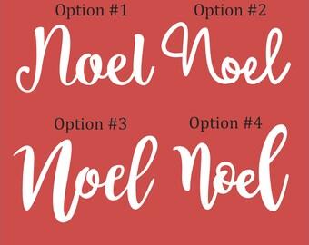 "Noel Cutouts 1/8"" - UNFINISHED"