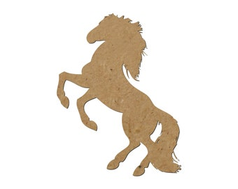 Horse Silhouette/Set of 4/Unfinished wood cutout/DIY craft cutout/Multiple sized cutout/Wood craft shapes/craft wood cutouts/wood blanks