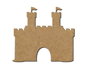 Castle Silhouette/Design B/Unfinished wood cutout/DIY craft cutout/Multiple sized cutout/Wood craft shapes/craft wood cutouts/wood blanks